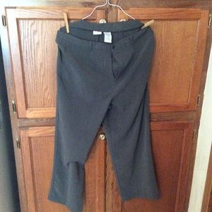 White sag women's grey dress pants +